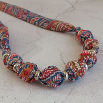 Felix paisley Liberty print necklace