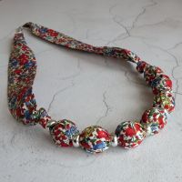 Emma & Georgina floral Liberty print necklace