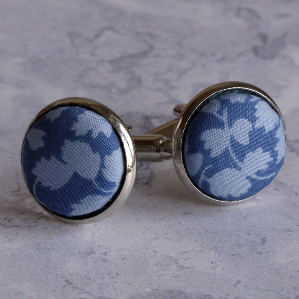 Liberty design Glenjade blue cufflinks