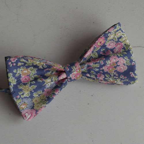 Floral Liberty print bow tie - Tatum pink and blue