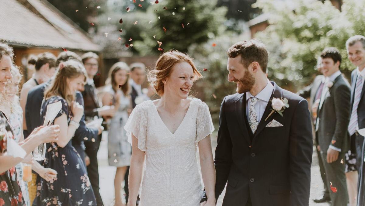 floral Liberty print wedding ties for Yorkshire wedding