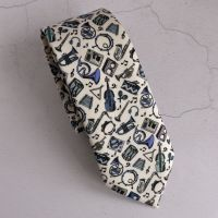 Liberty print tie - Miles blue - musical instruments tie