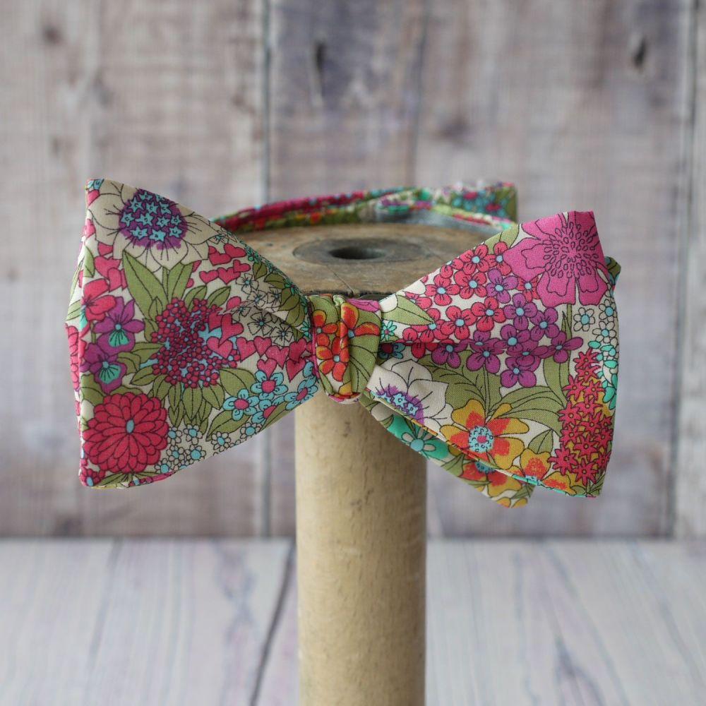 Bright floral Liberty print bow tie - Ciara