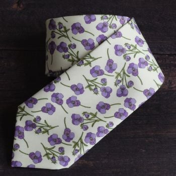 Ros violet design floral Liberty print tana lawn tie