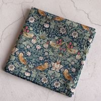 Strawberry Thief green pocket square
