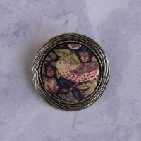 Liberty print brooch - Strawberry Thief