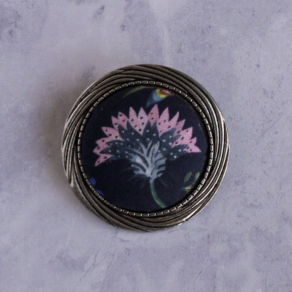 Liberty print brooch - Temptation Meadow