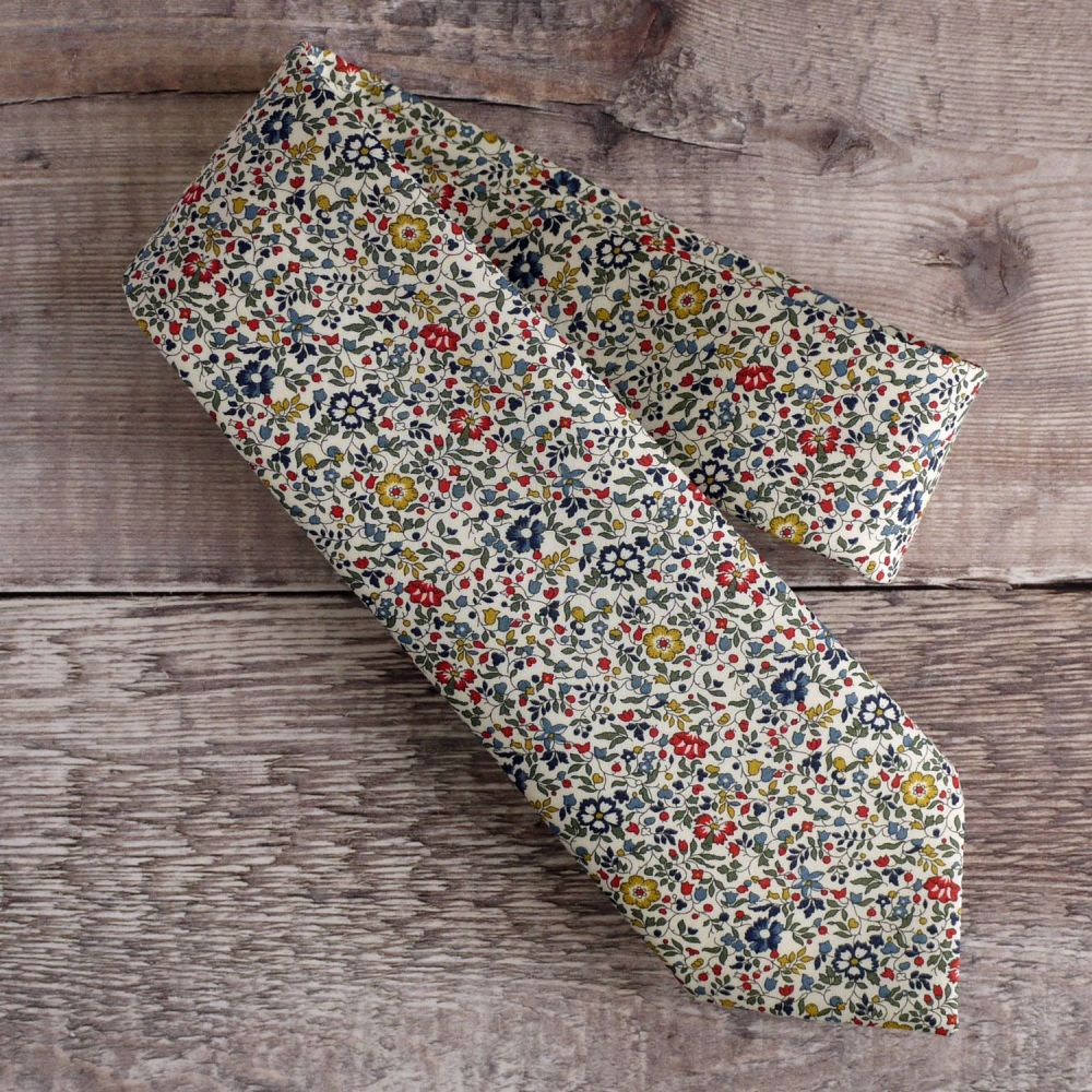 Floral Liberty print tie - Katie and Millie multi