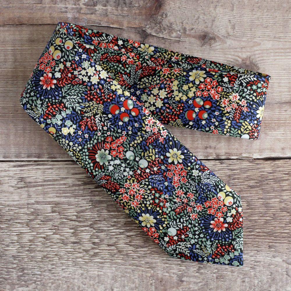 Floral Liberty tana lawn tie - Elderberry