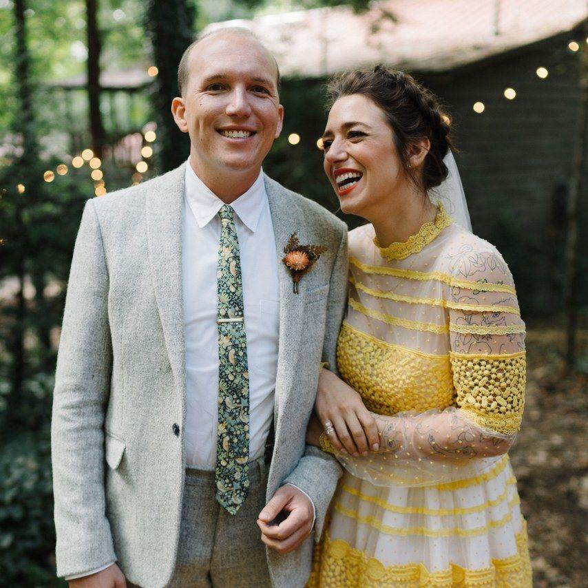 classic William Morris ties for North Carolina wedding - Strawberry Thief wedding ties