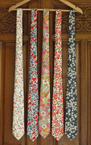 floral Liberty print wedding ties