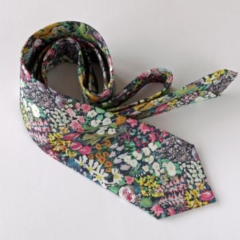 Floral Liberty print tie - Painter's Meadow
