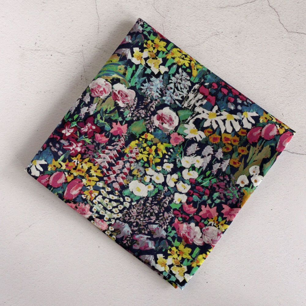 Floral pocket square - Liberty tana lawn Painter's Meadow