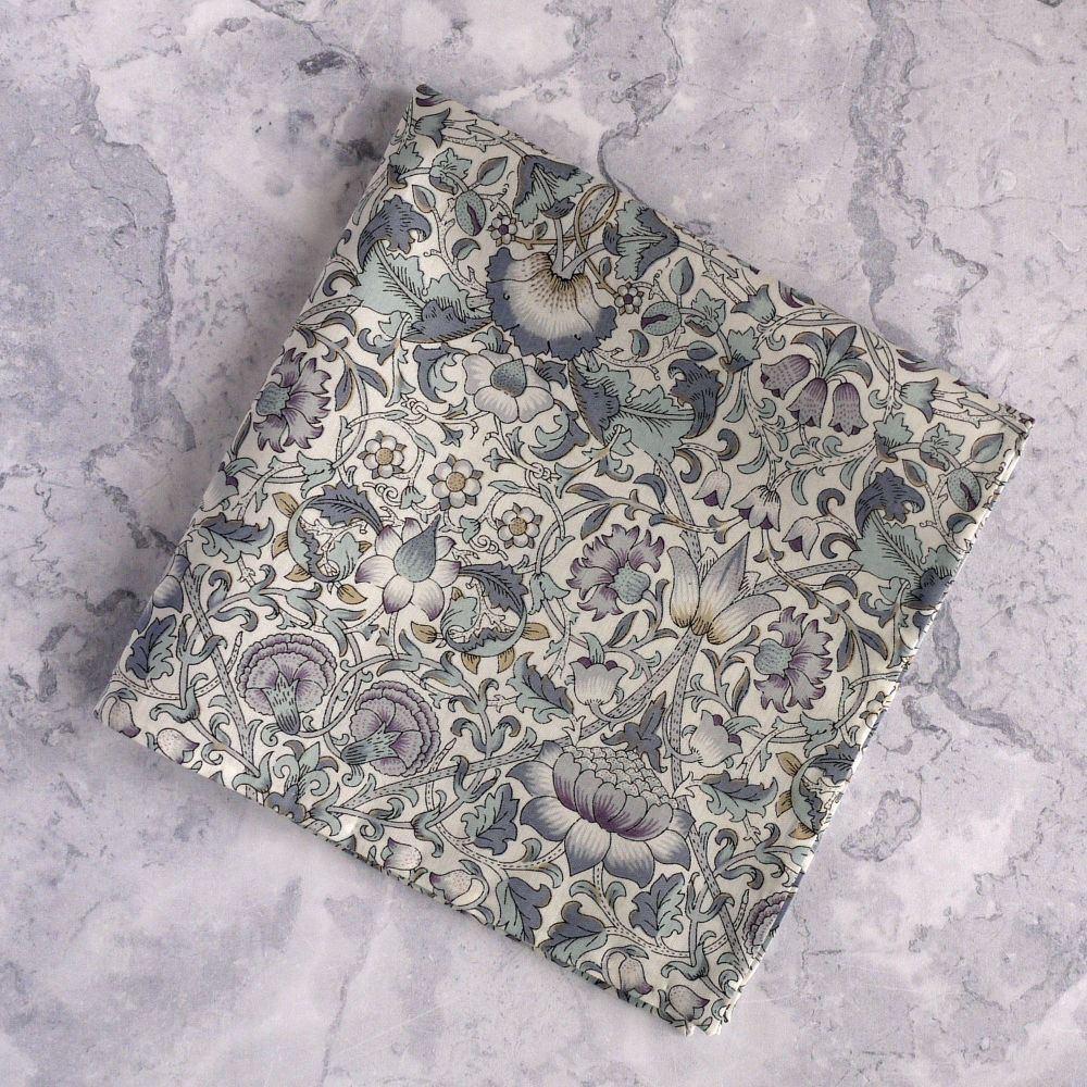 Mens Pocket Square - Liberty tana lawn Lodden grey