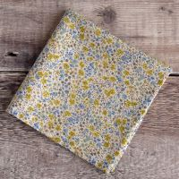 Blue and yellow floral pocket square - Liberty tana lawn Phoebe