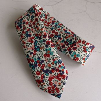 Liberty print tie - Wiltshire Berry red