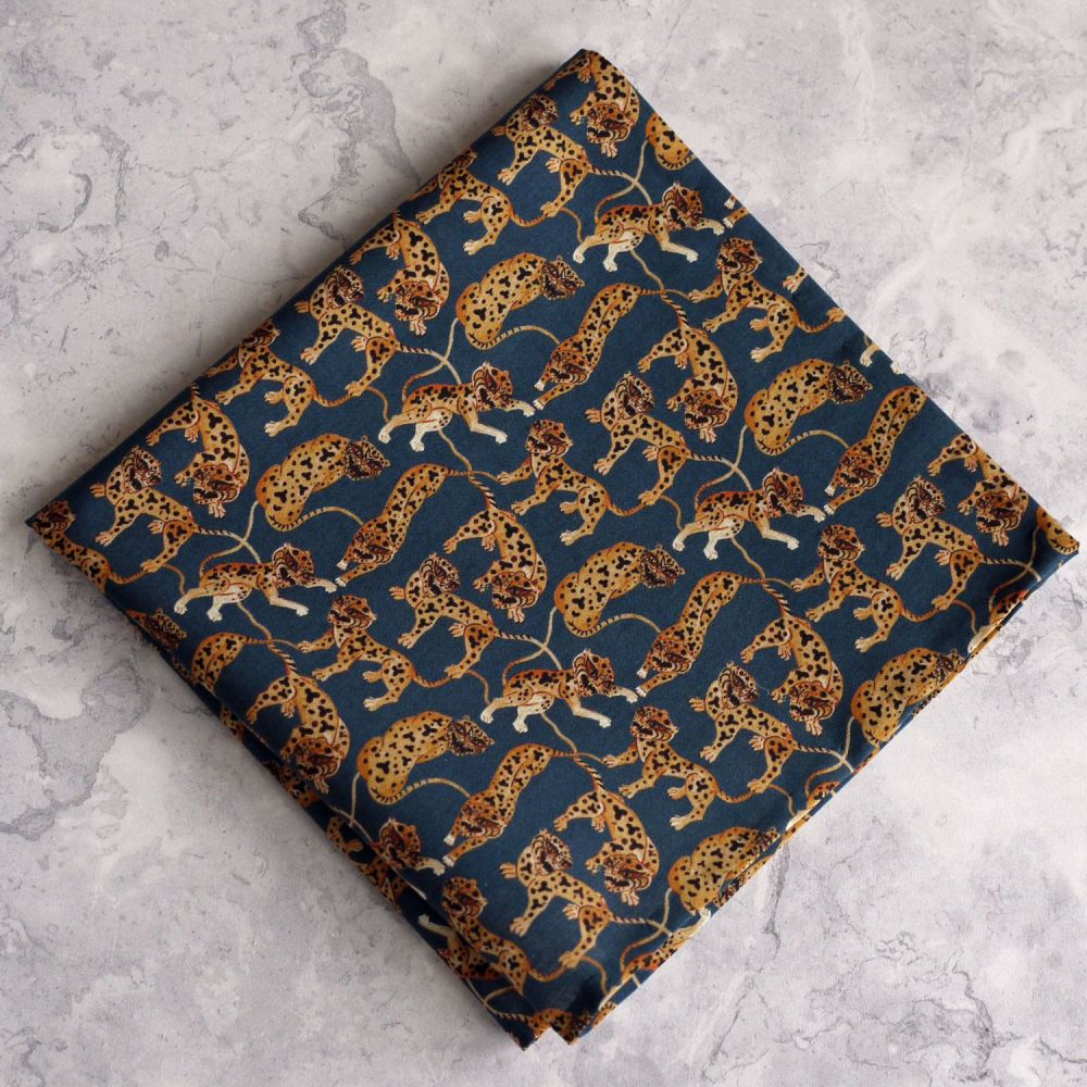 Liberty lawn pocket square - Heads & Tails Caspian Tigers