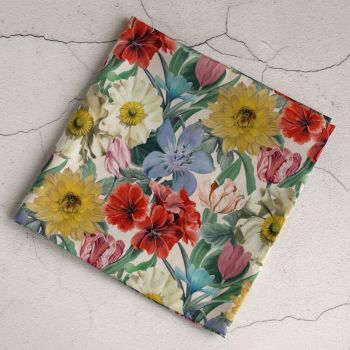 Floral Liberty print pocket square - Meadow Melody