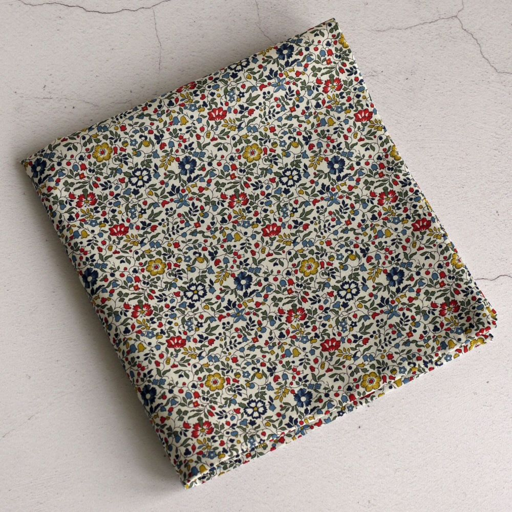 Floral Liberty print pocket square - Katie and Millie multi