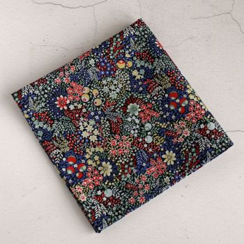Liberty print pocket square - Elderberry red