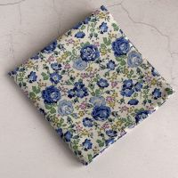 Blue floral pocket square - Liberty tana lawn Felicite