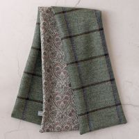 Green check tweed and Liberty Kitty Grace paisley scarf