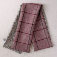 Pink check tweed and Liberty Kitty Grace paisley scarf