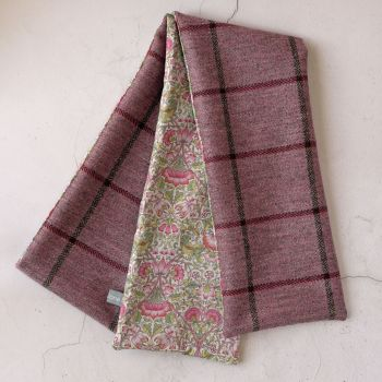 Pink check tweed and Liberty Lodden scarf