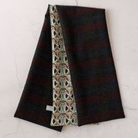 Check wool and Liberty Mauverina scarf