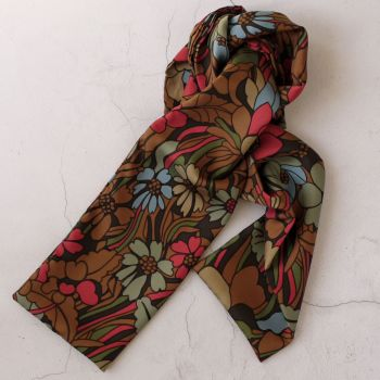 Som silk skinny scarf made from Liberty fabric