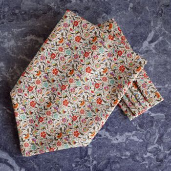 Le Temps tana lawn cravat made with Liberty fabric