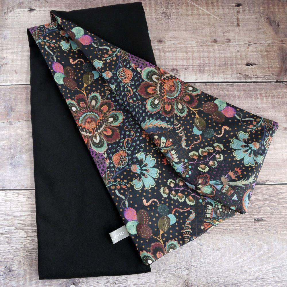 Liberty Grand Bazaar and Black Velveteen Scarf