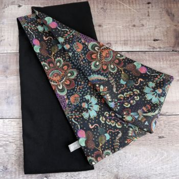 Black velveteen and Liberty Grand Bazaar scarf
