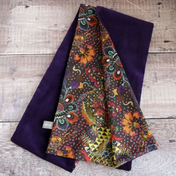 Purple Velveteen and Liberty Grand Bazaar Scarf