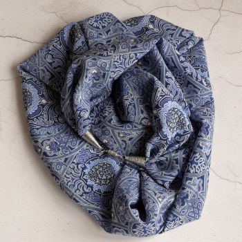 Liberty Gambier silk crepe de chine infinity scarf necklace