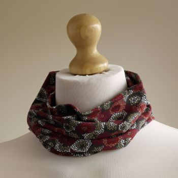 Jersey circle scarf - Milani - made from Liberty fabric
