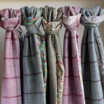 Tweed and Liberty print scarves
