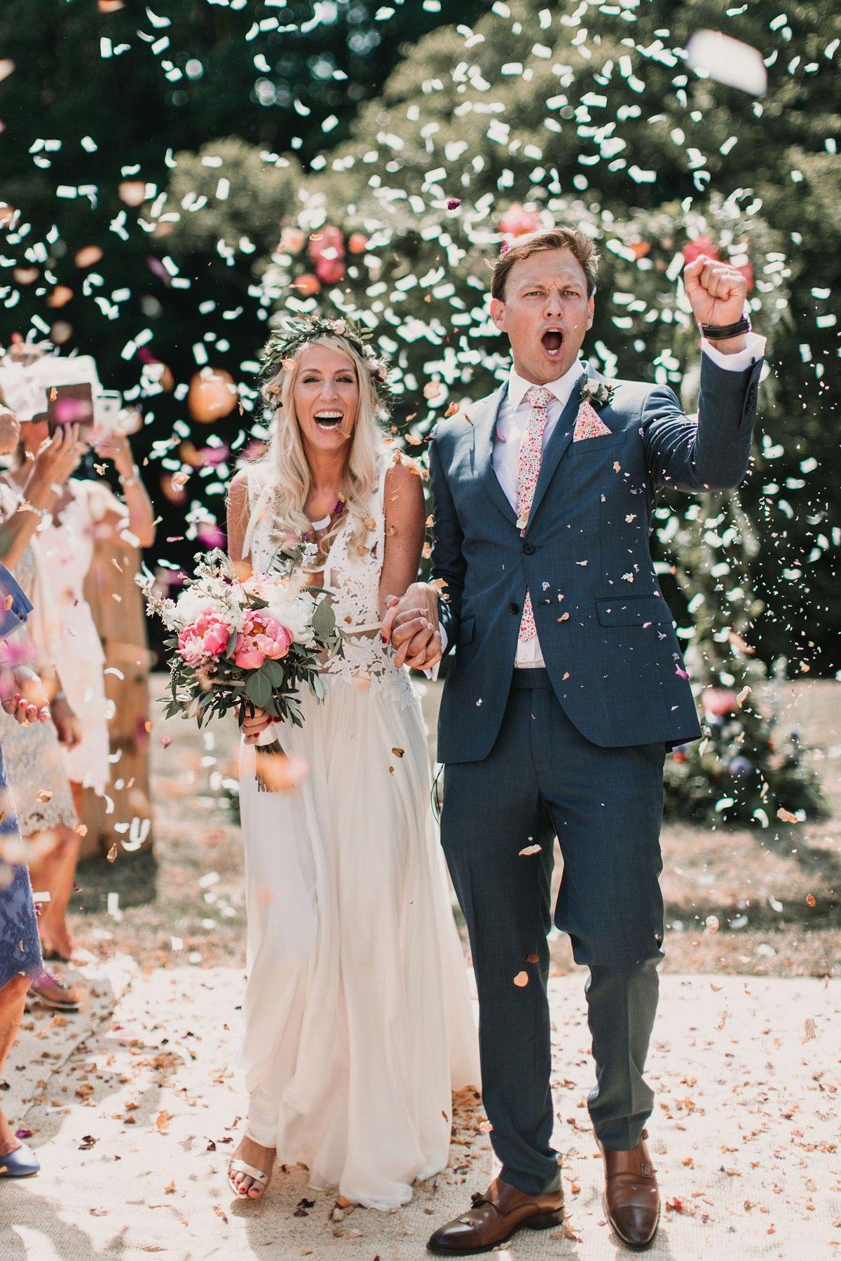 floral Liberty print wedding  ties - real weddings CatkinJane