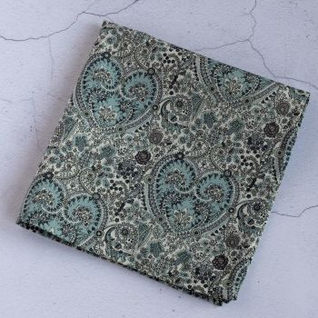 Paisley pocket square - Liberty tana lawn Kitty Grace