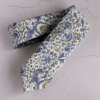 William Morris design Lodden tie - blue and gold