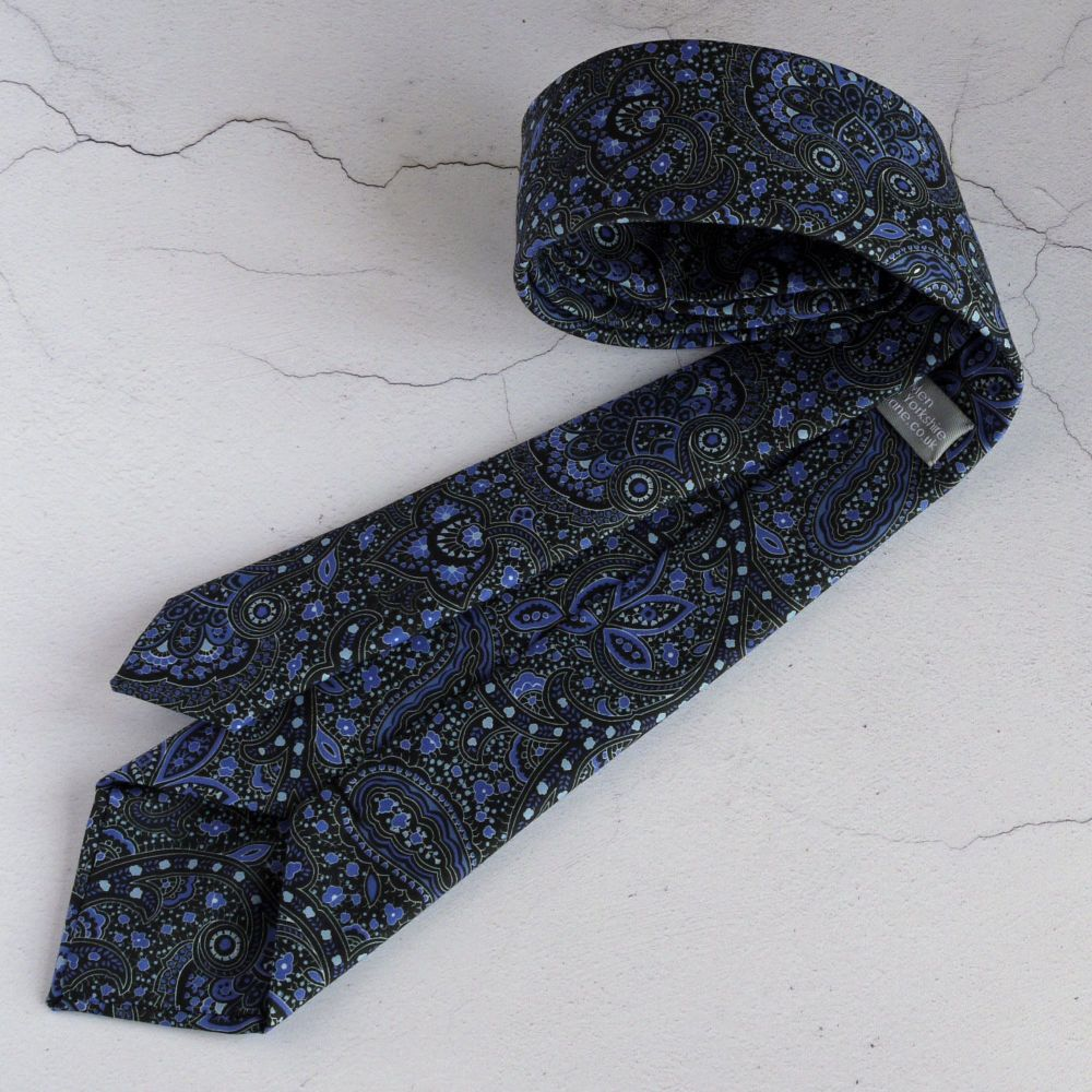 Liberty paisley tie - Arthur Stewart blue