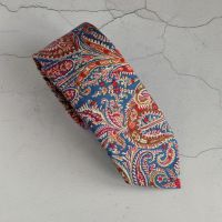 Liberty paisley tie - Felix and Isabelle blue and red
