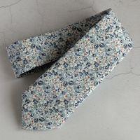 Blue floral Liberty tana lawn tie - Eloise