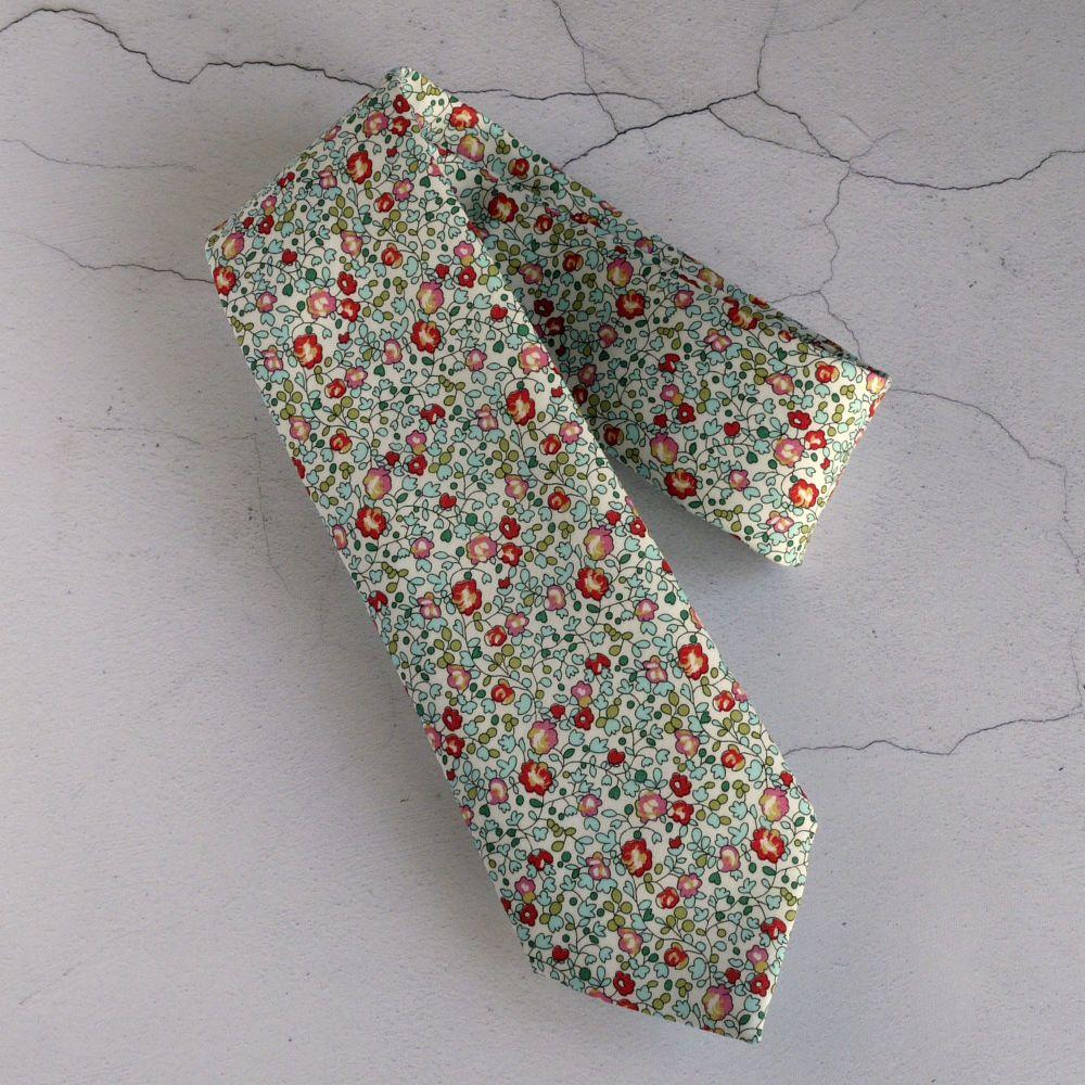 Floral Liberty tana lawn tie - Eloise multicolour
