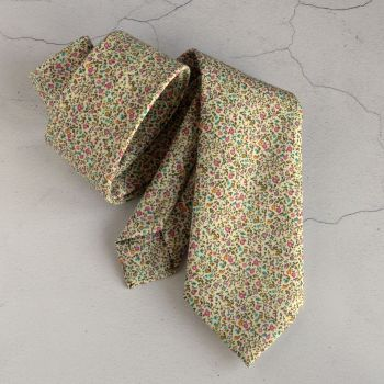 Floral Liberty print tie - Newland pink