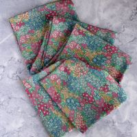 Garden Wonderland long slim scarf made with Liberty silk fabric