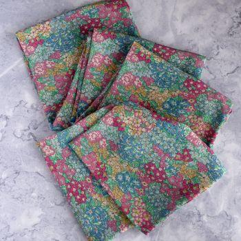 Garden Wonderland long slim scarf made with Liberty silk fabric