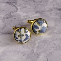 Liberty design Lodden cufflinks - Lodden blue and gold