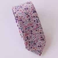 Floral Liberty tana lawn tie - Phoebe purple