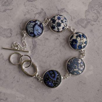 Blue Liberty print bracelet